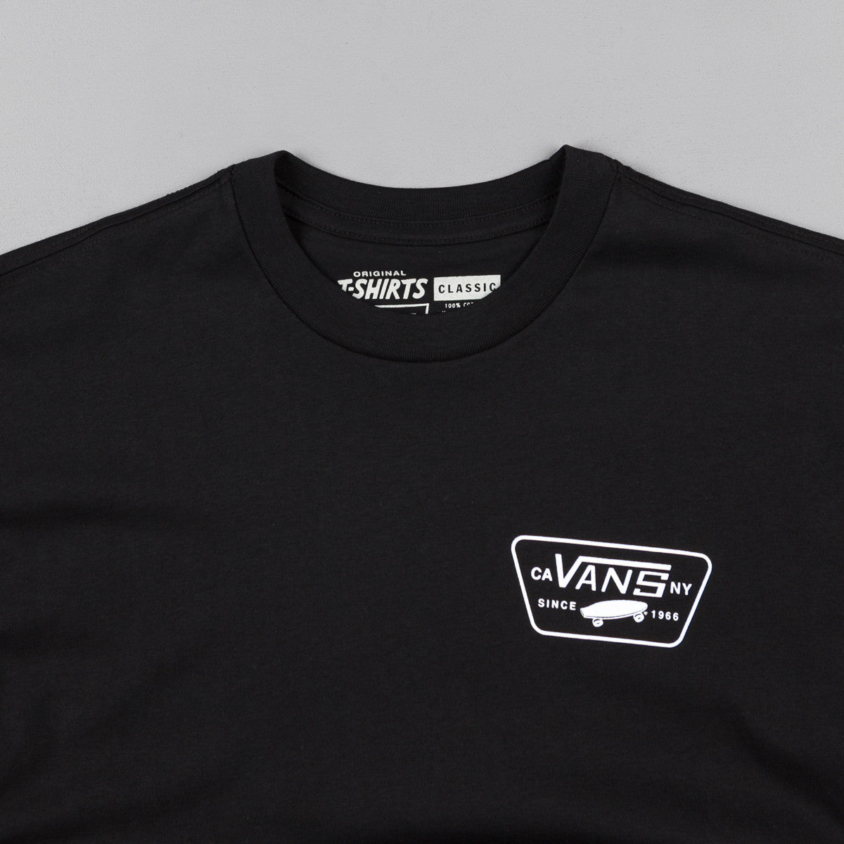 Vans Full Patch Long Sleeve T-Shirt - Black / White