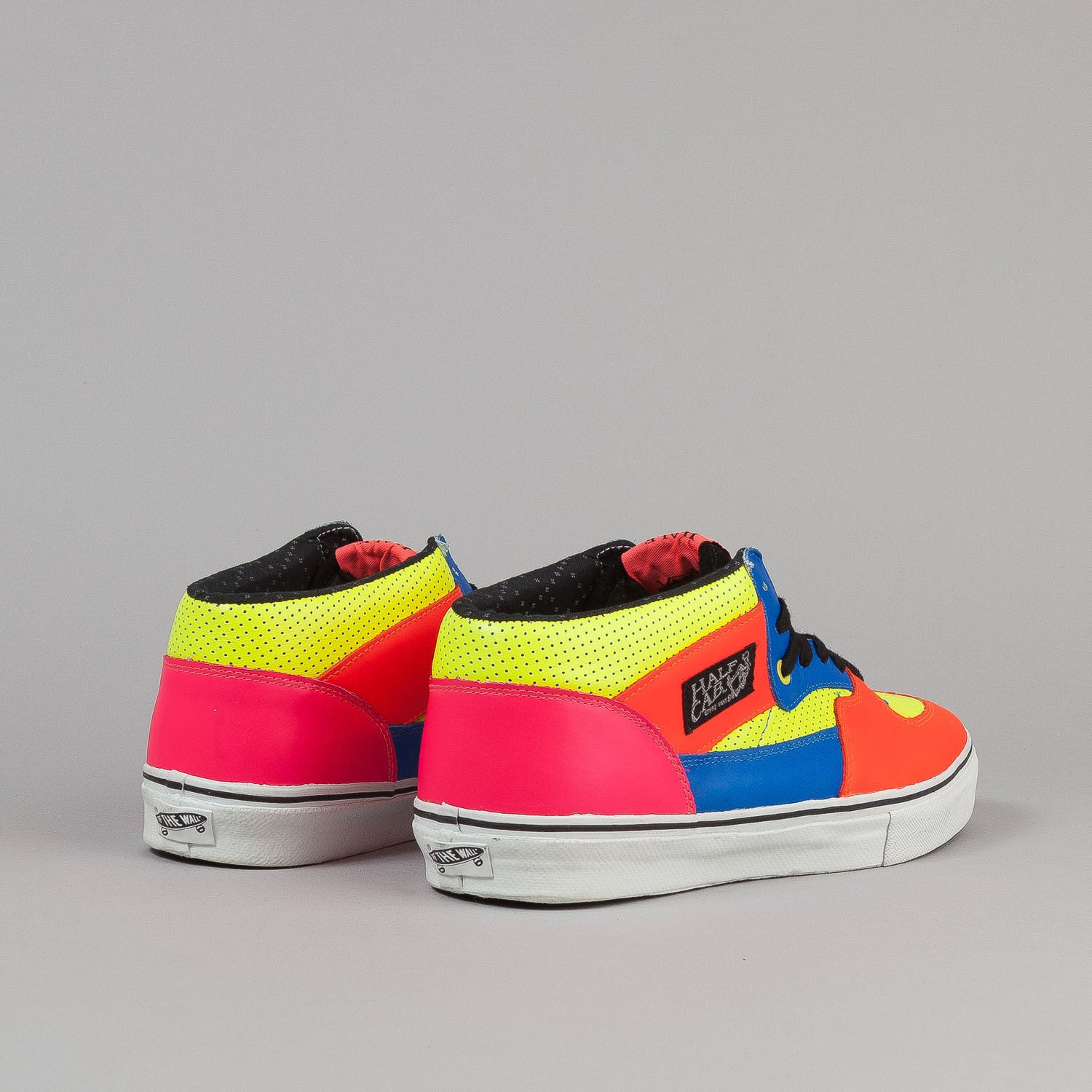 Vans Vault Half Cab LX Shoes - (Multi Neon) Yellow / Azalea