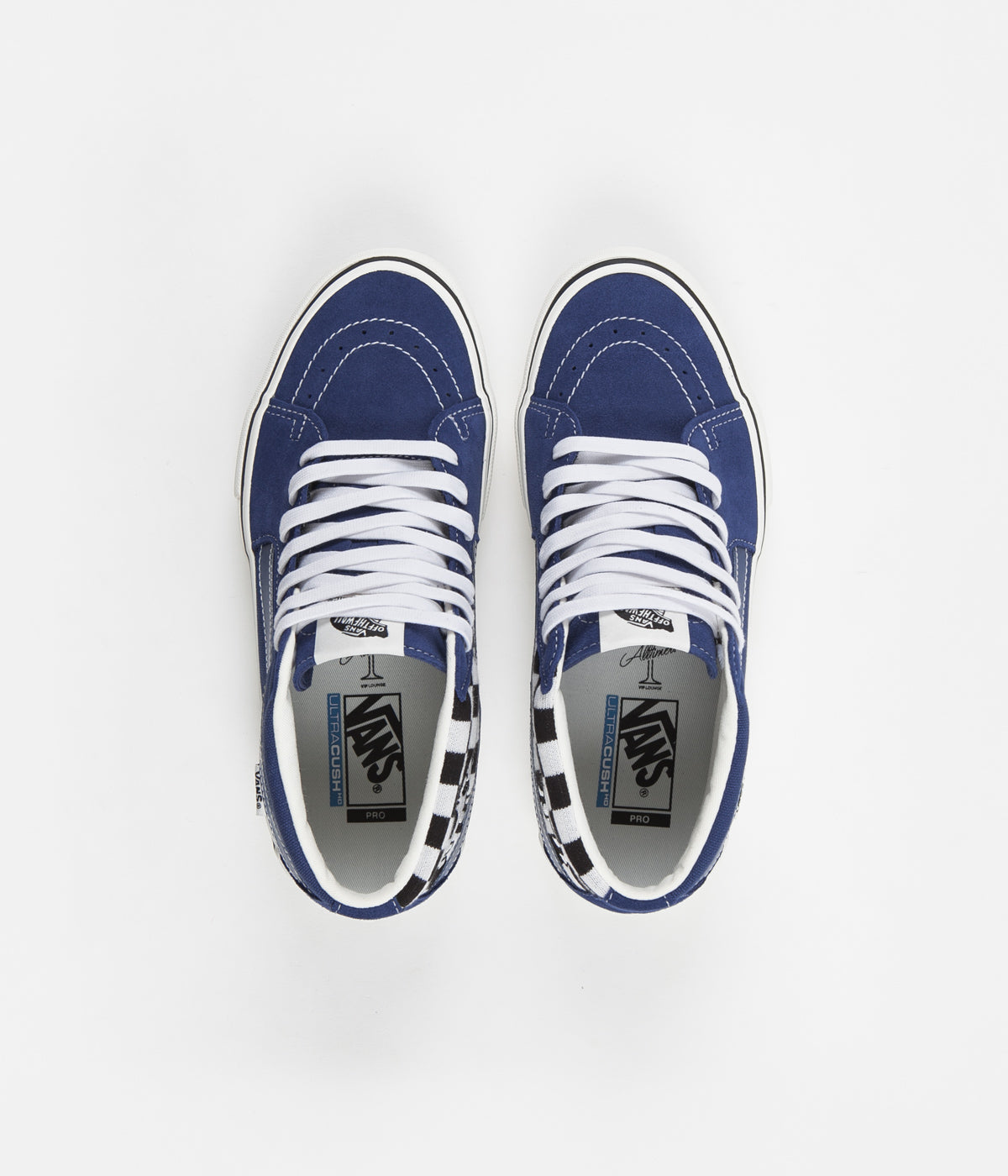 Vans x Alltimers Sk8-Mid Pro Shoes - True Navy / Classic White