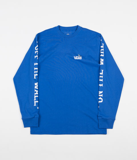 Vans x Anti Hero On The Wire Long Sleeve T-Shirt - Royal Blue