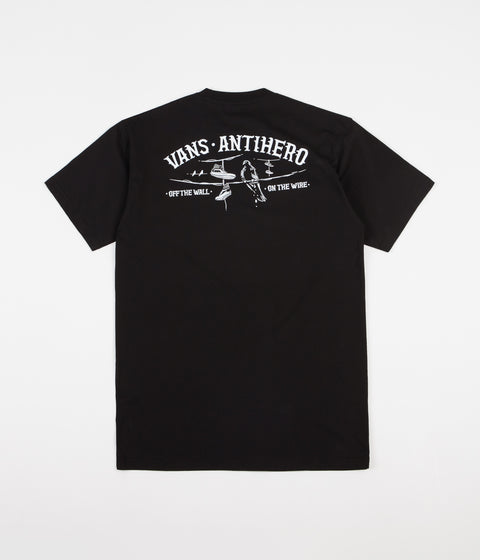 Vans x Anti Hero On The Wire T-Shirt - Black
