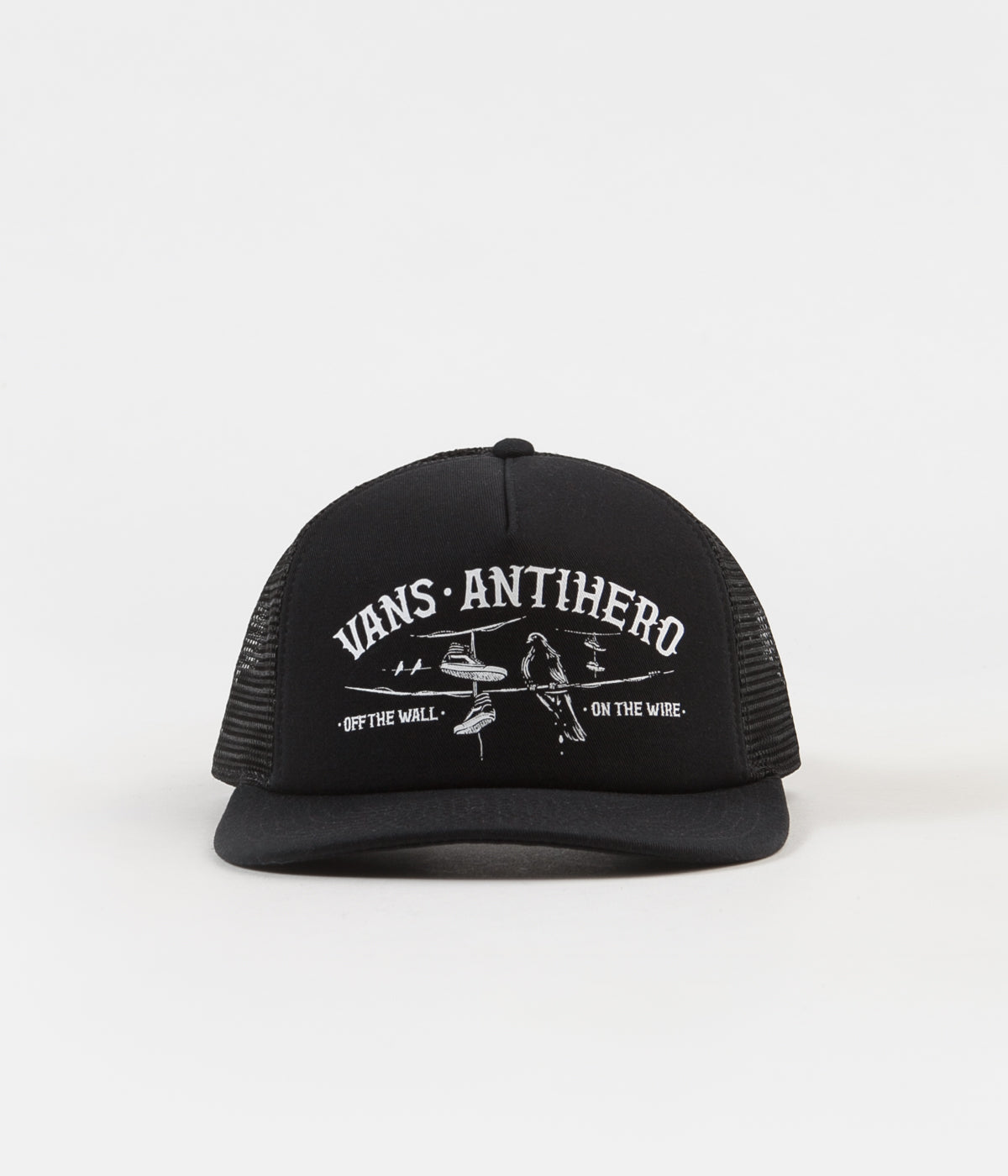 ... Vans x Anti Hero Wired Trucker Cap - Black   Zinnia ... d4acc9cf131d