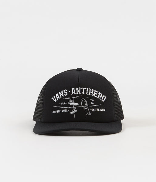ca26f59cb8d Vans x Anti Hero Wired Trucker Cap - Black   Zinnia
