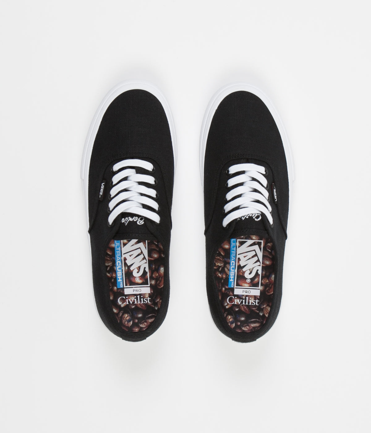 303221e1c853d1 Vans x Civilist Authentic Pro Shoes - Black   True White ...