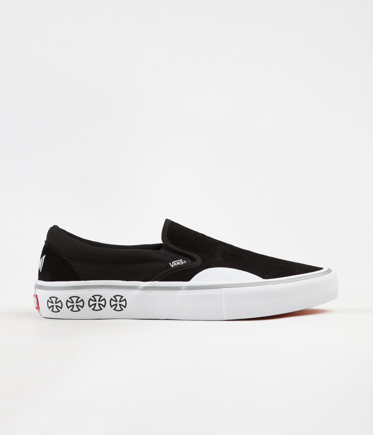292cb533f787f8 ... Vans x Independent Slip On Pro Shoes - Black   White ...