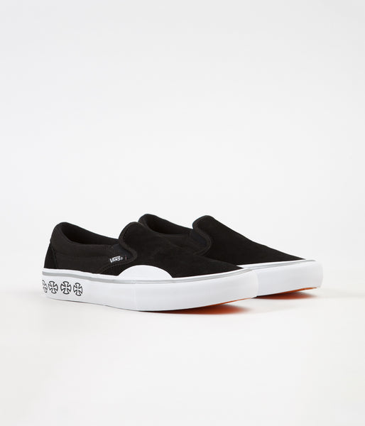 Vans x Independent Slip On Pro Shoes - Black   White  2ac0a2b822680