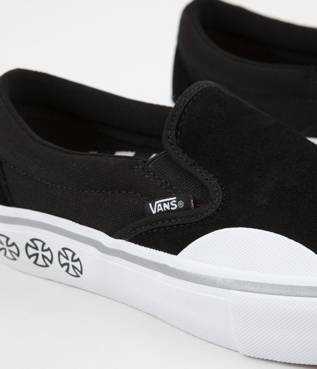 ... Vans x Independent Slip On Pro Shoes - Black   White ... 7d6e7c3ec