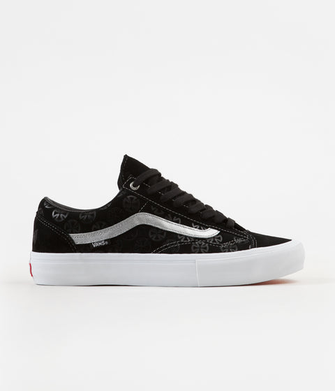 Vans x Independent Style 36 Pro Shoes - Black / Silver