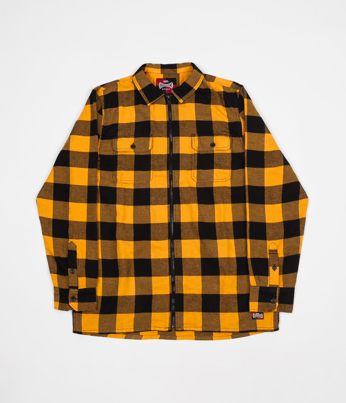 Vans x Independent Zip-Up Flannel Shirt - Sunflower