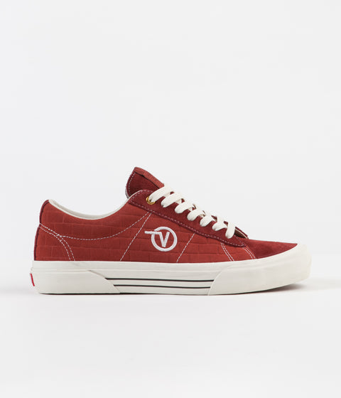 Vans x Pass Port Sid Pro Shoes - Brick Red