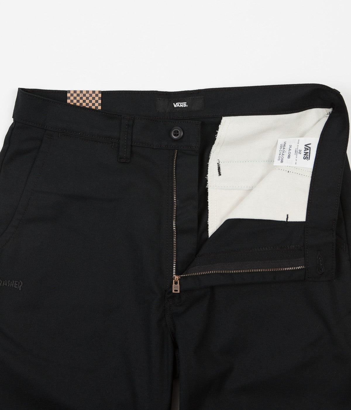 a8b8054c414ce0 ... Vans x Thrasher Authentic Chino Pro Trousers - Black ...