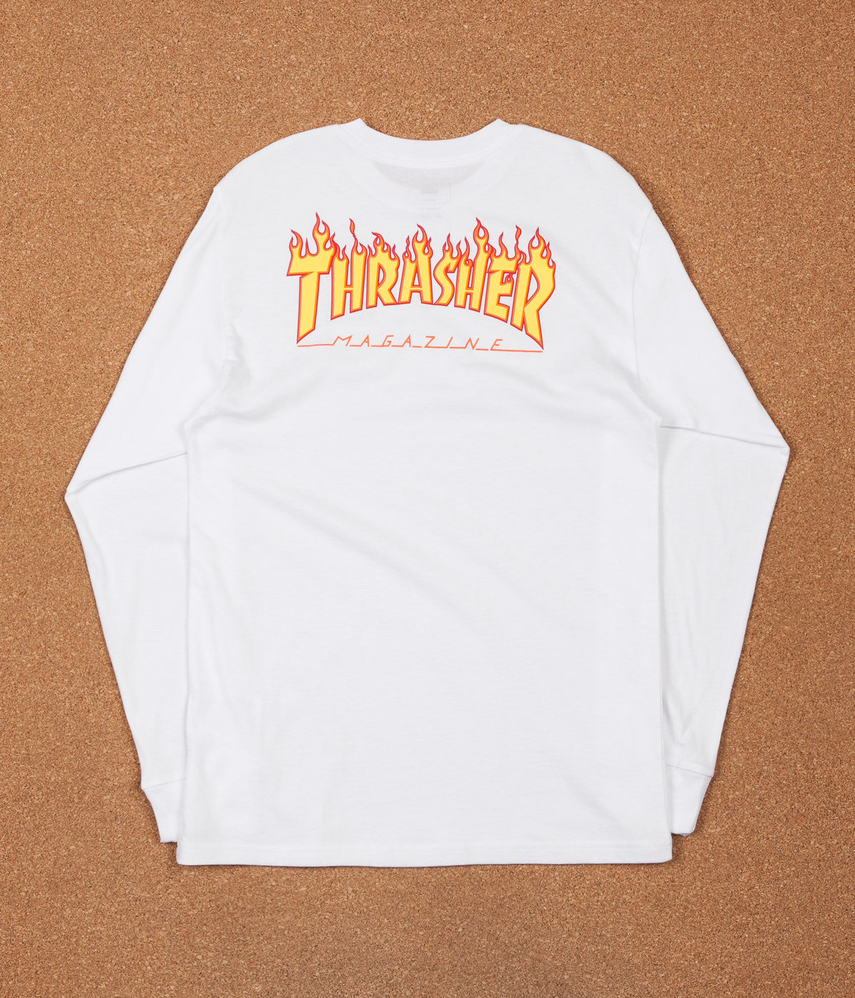 Vans X Thrasher Checker Long Sleeve T-Shirt - White  1c436400f794