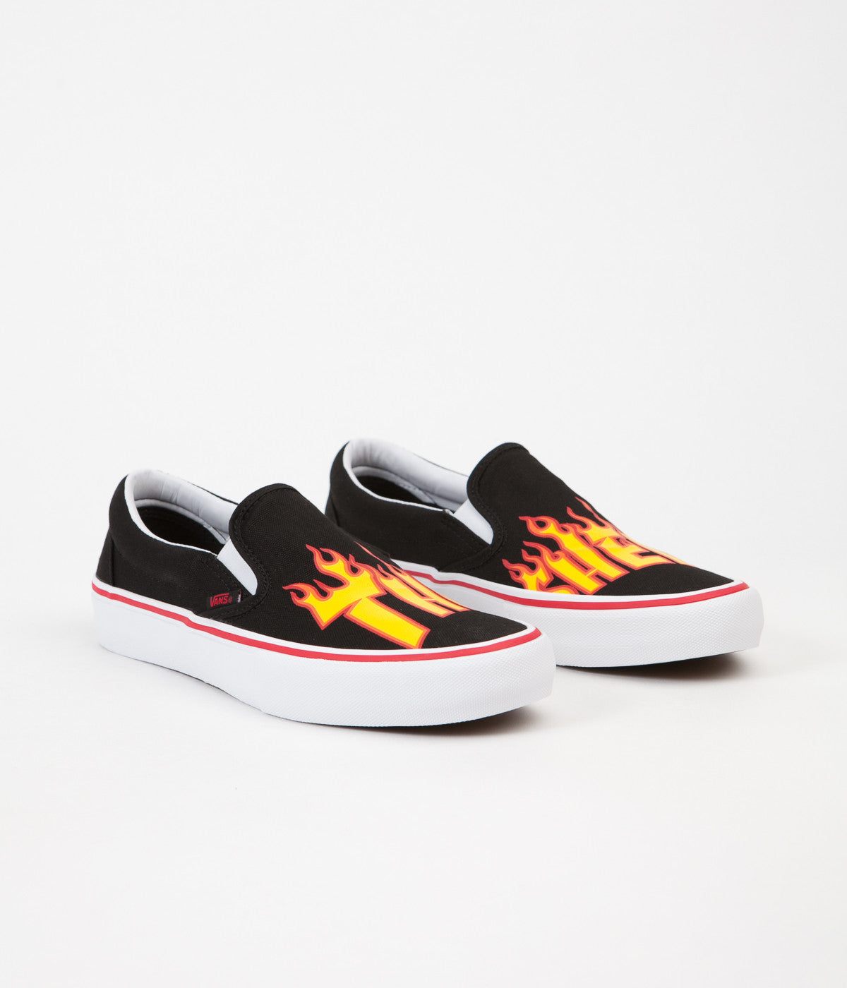 6d74187013b ... Vans x Thrasher Slip On Pro Shoes - Black ...