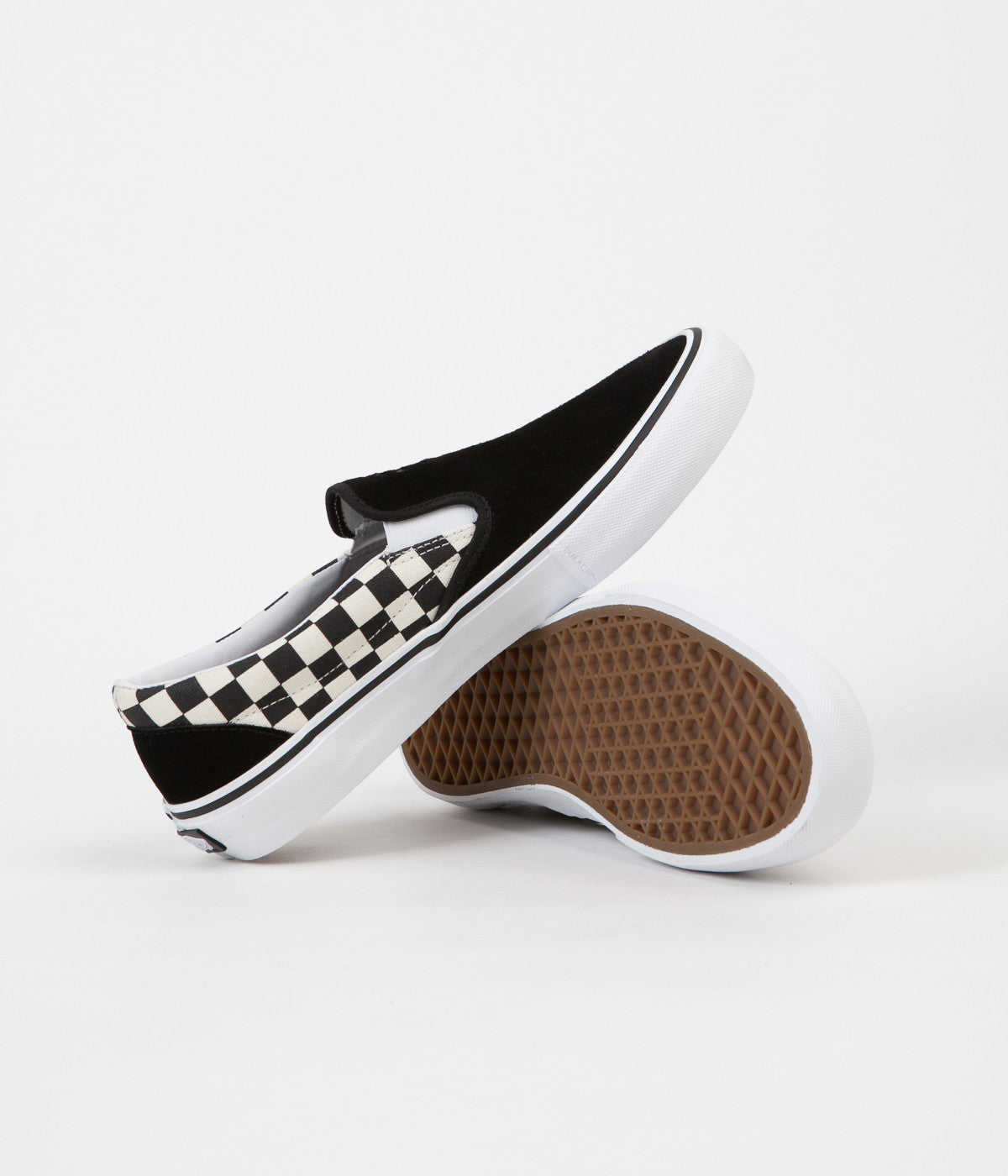 Vans x Thrasher Slip On Pro Shoes Black Checkerboard