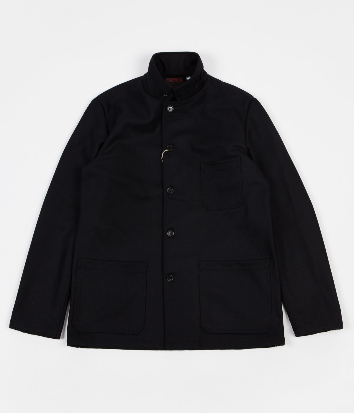 Vetra Workwear Button Collar Melton Jacket - Navy