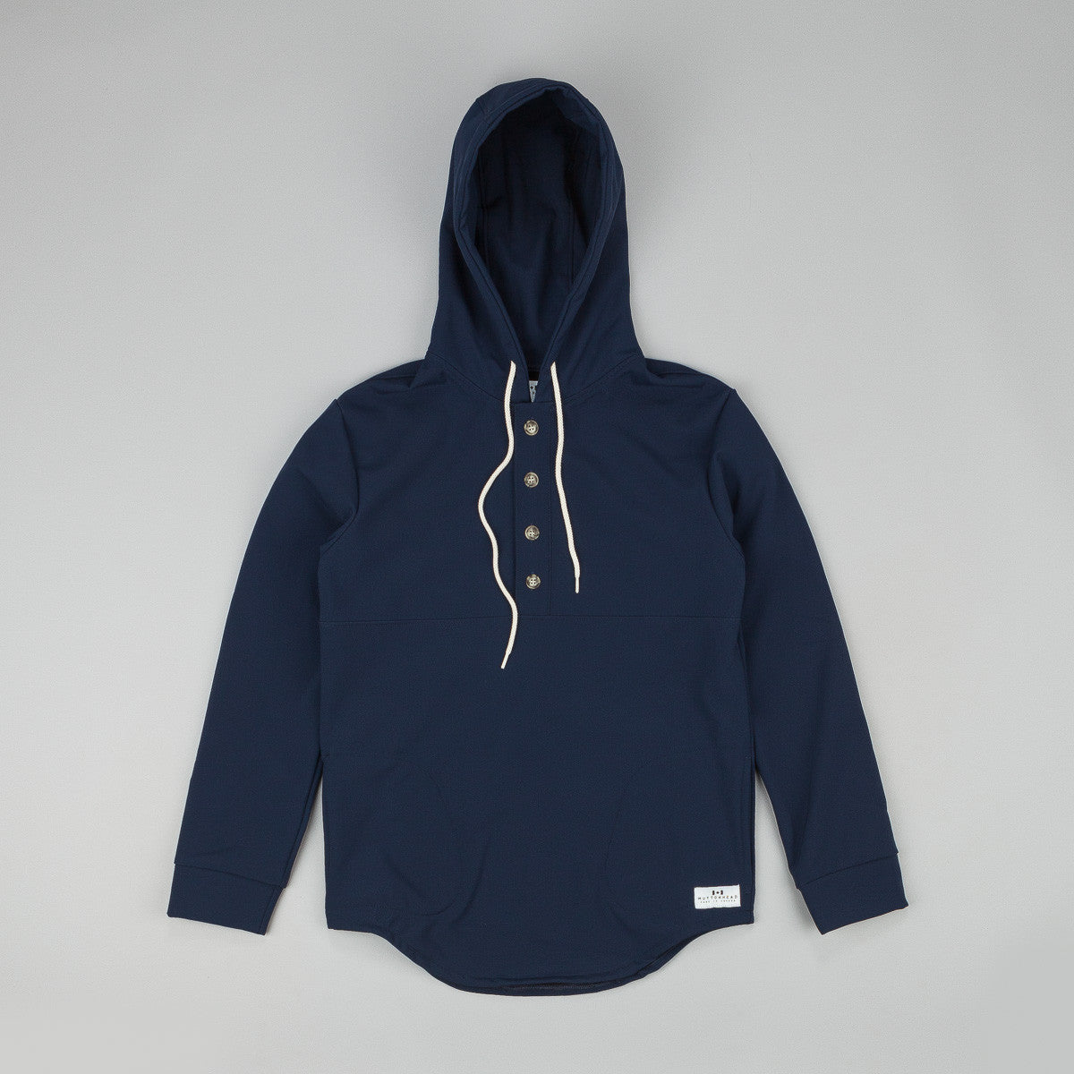 Muttonhead Waterproof Rain Hooded Camping Sweatshirt - Navy Softshell