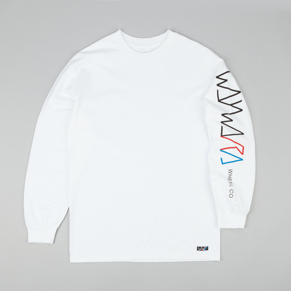 Wayward Strider Logo Long Sleeve T-Shirt - White