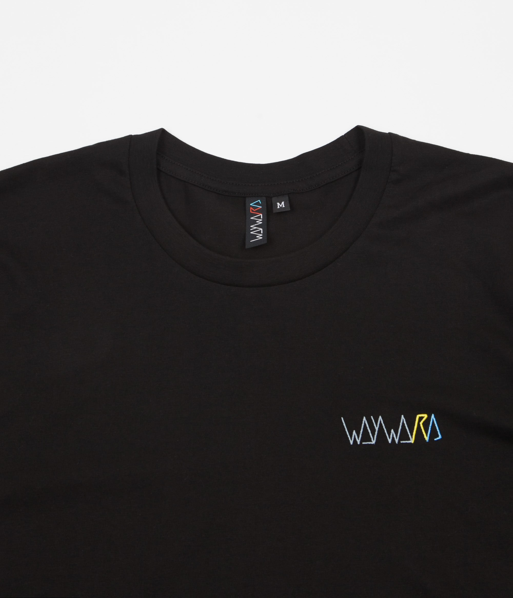 Wayward Strider T-Shirt - Black / Yellow / Blue