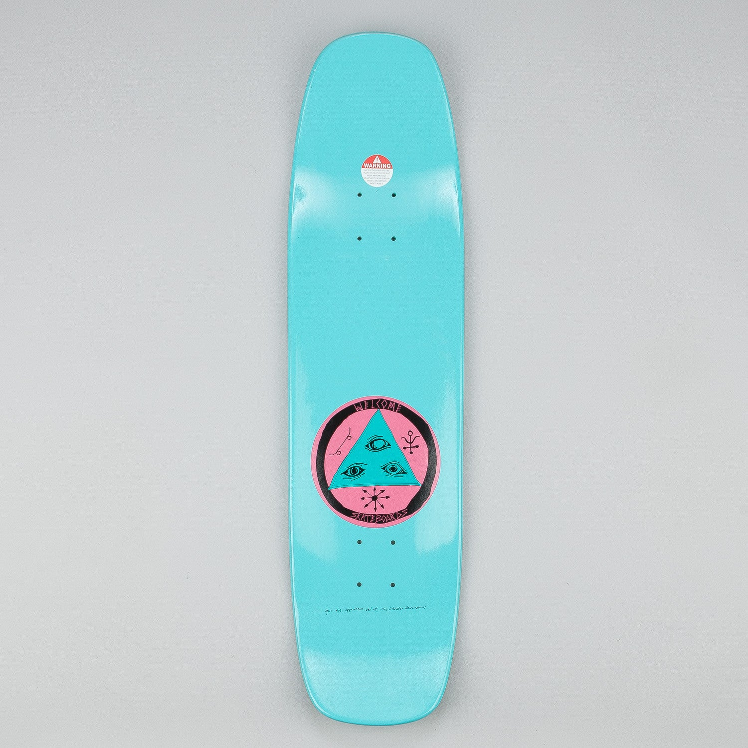 Welcome Featherless Wormtail Deck - 8.4 Teal