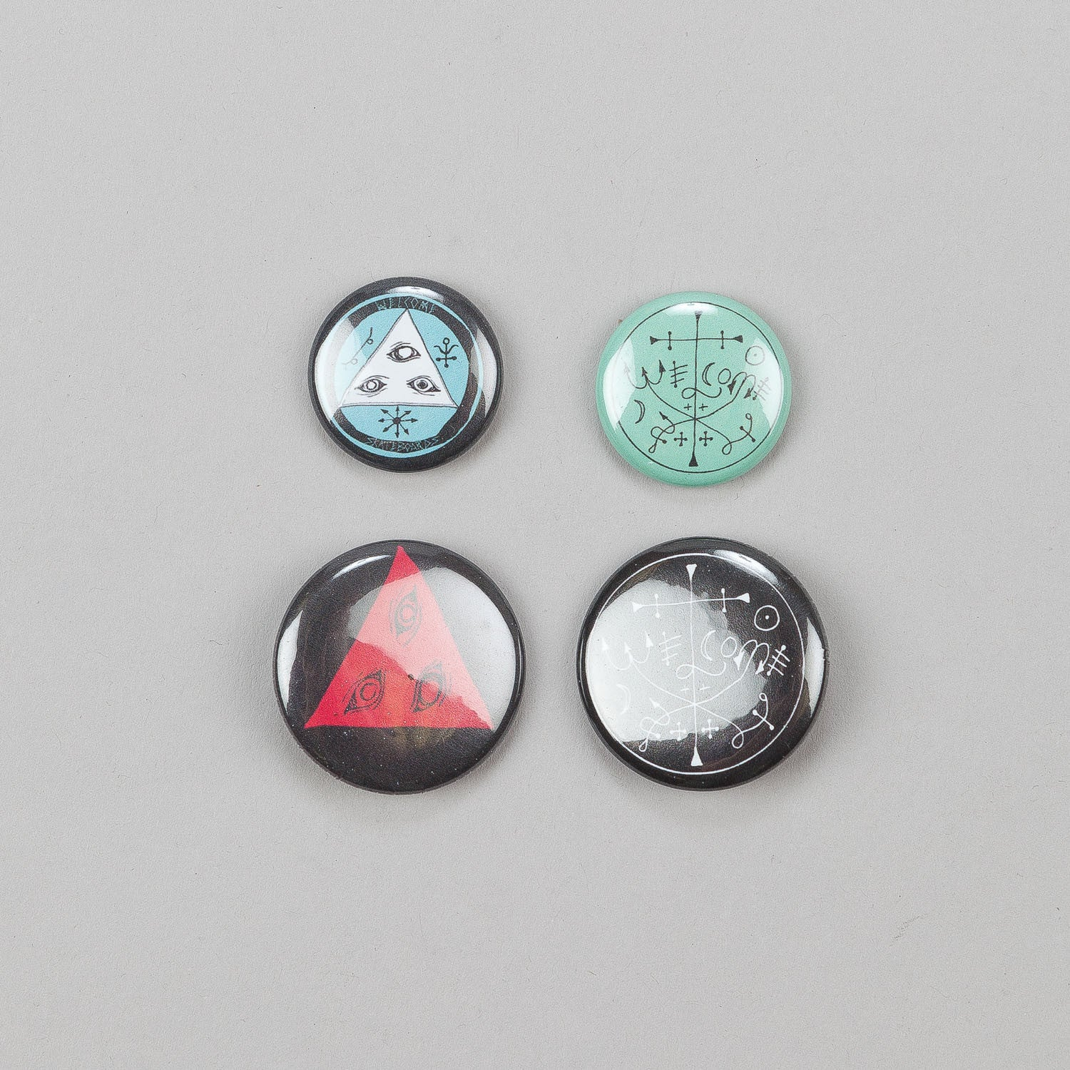 Welcome Orbs Button Badge Pack of 4