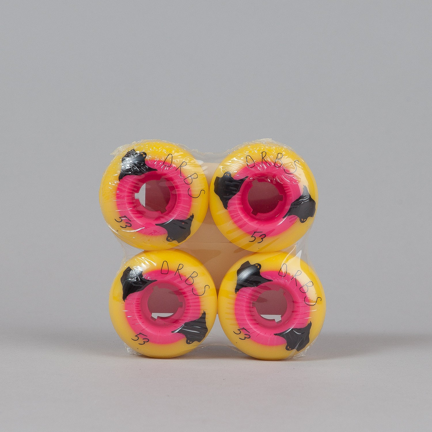 Welcome Orbs Poltergeist Wheels Yellow / Red 53mm