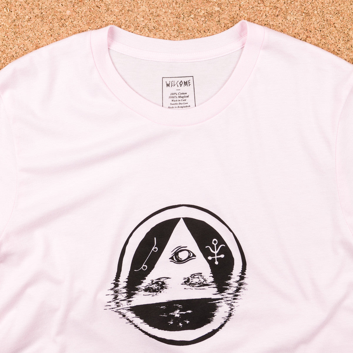 Welcome Skateboards Tracking T-Shirt - Pink / Black