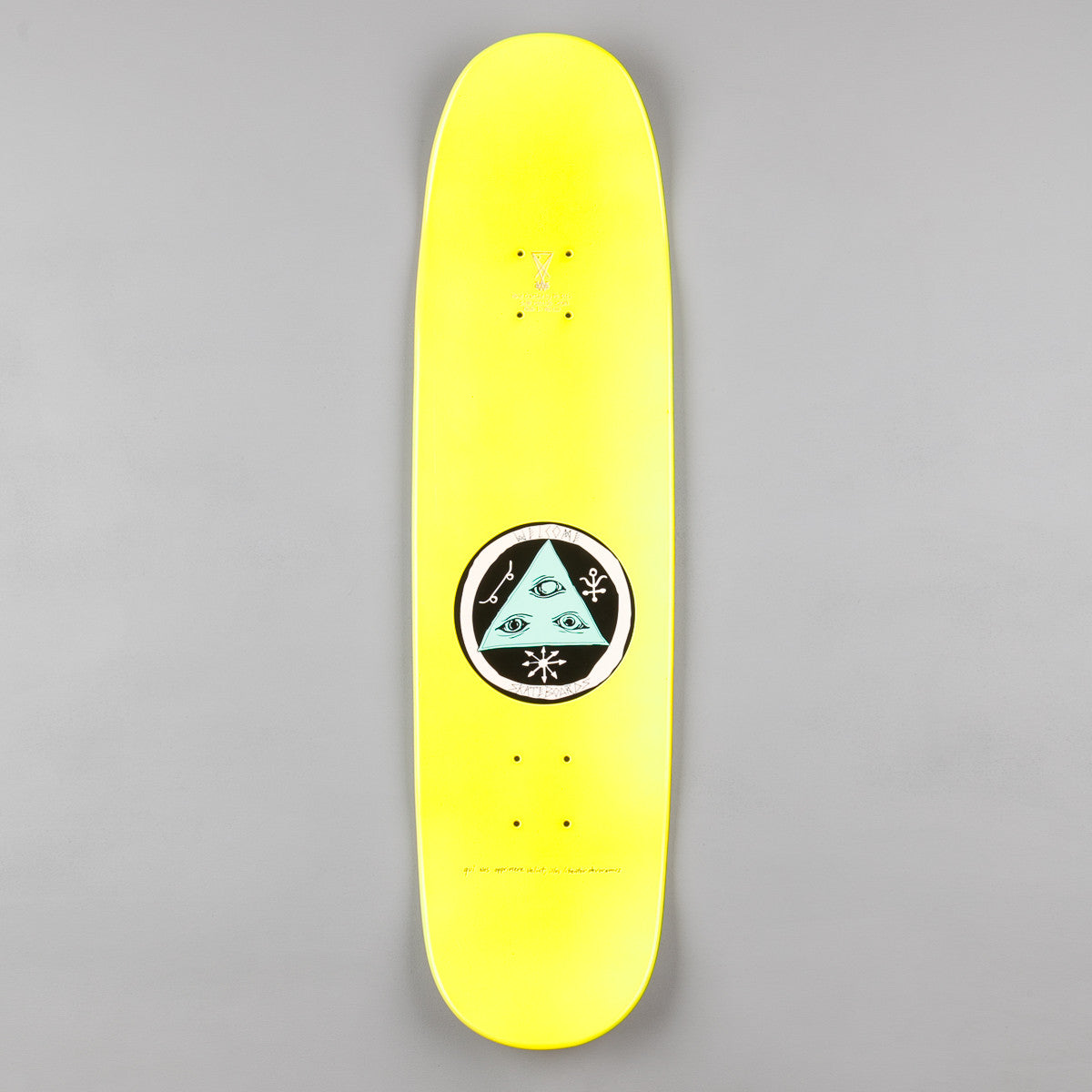 Welcome Skateboards Miller Faces on Catblood Deck - Yellow Dip - 8.5""
