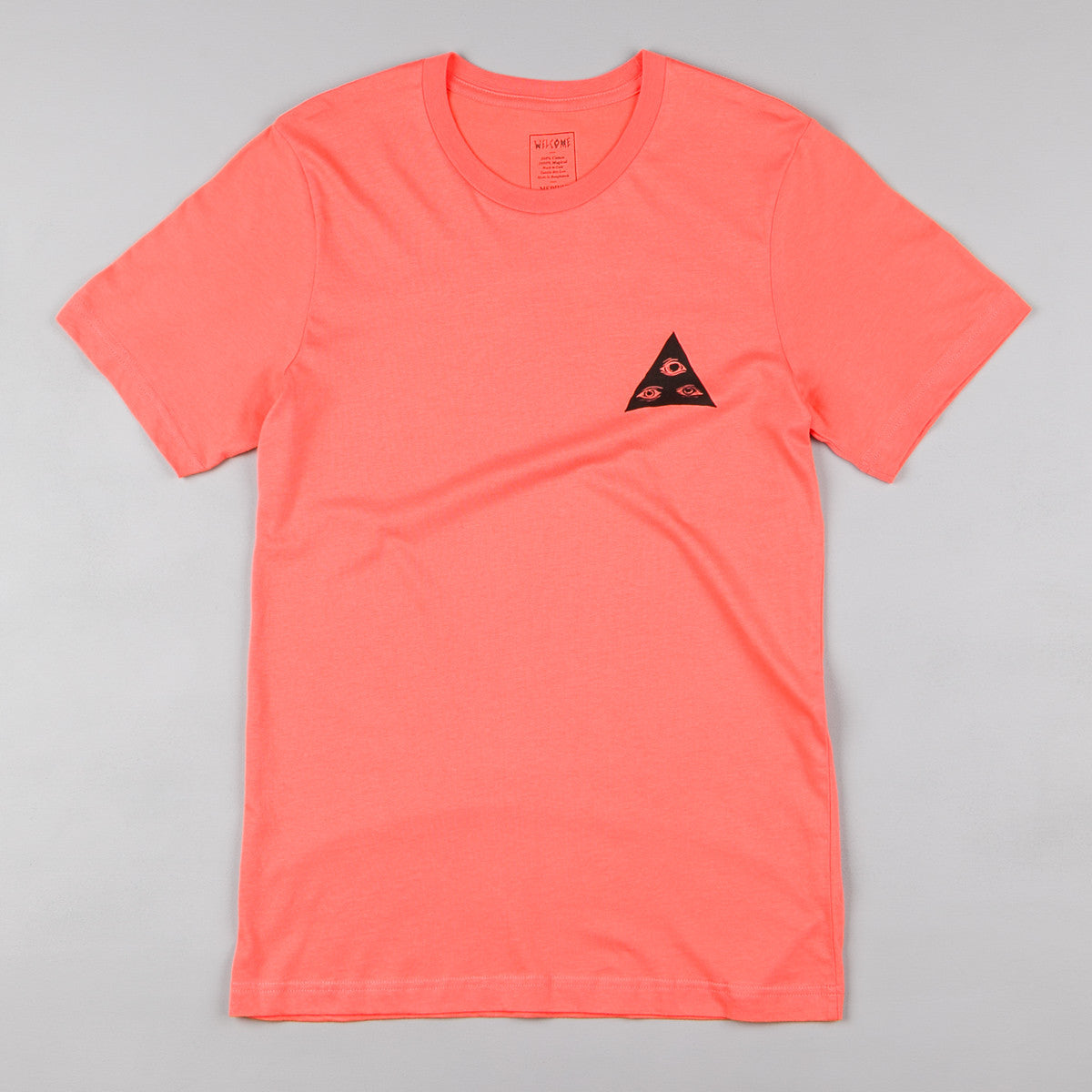 Welcome Skateboards Talisman T-Shirt - Coral / Black