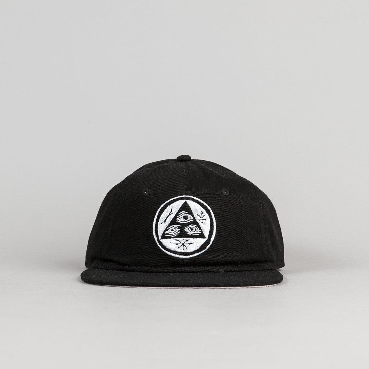 Welcome Skateboards Talisman Unstructured Snapback Cap - Black / White