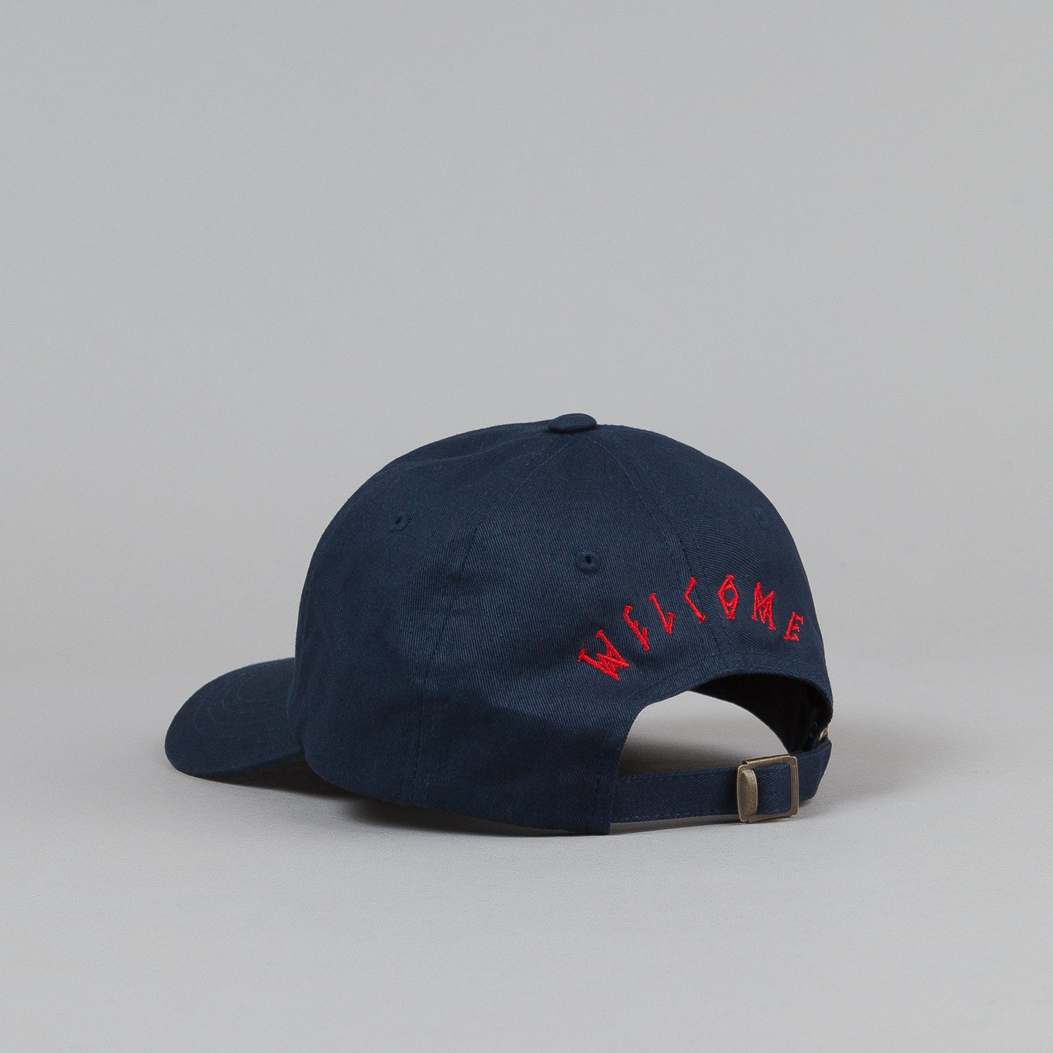 Welcome Rocking Dog Slider Cap - Navy / Red