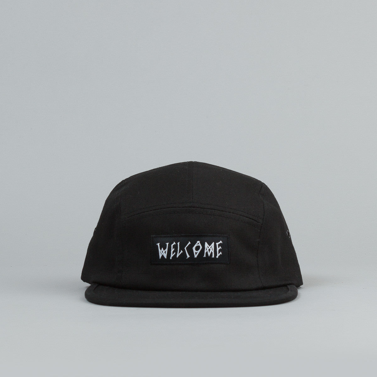 Welcome Scrawl Camp Cap - Black