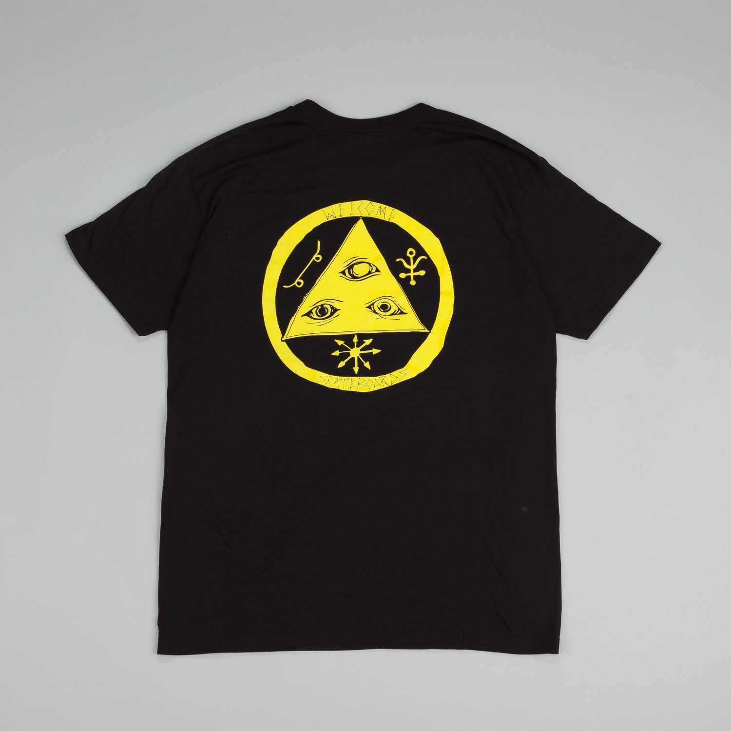 Welcome Talisman Discharge T Shirt Black / Yellow