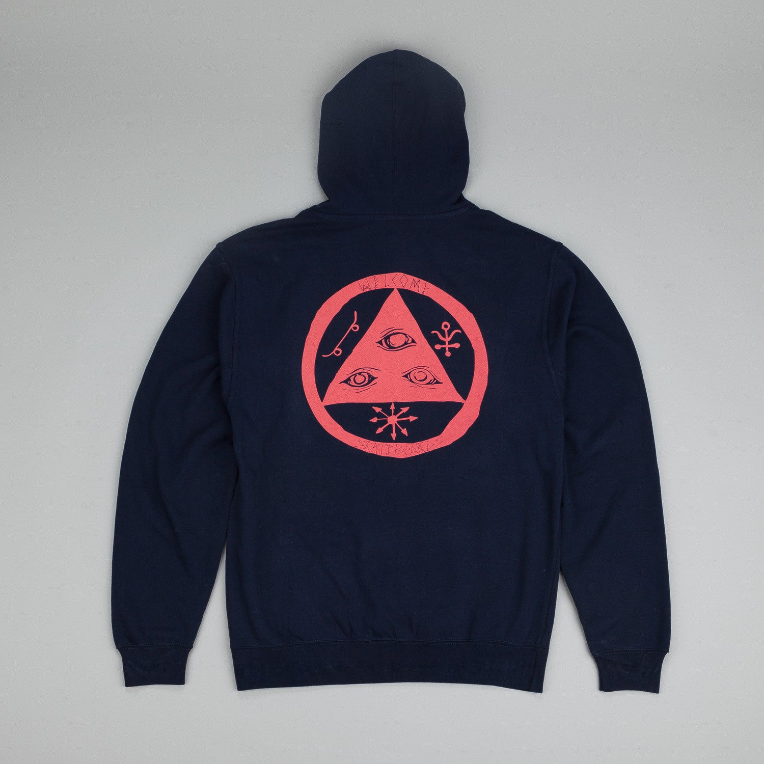 Welcome Talisman Pullover Hooded Sweatshirt Navy