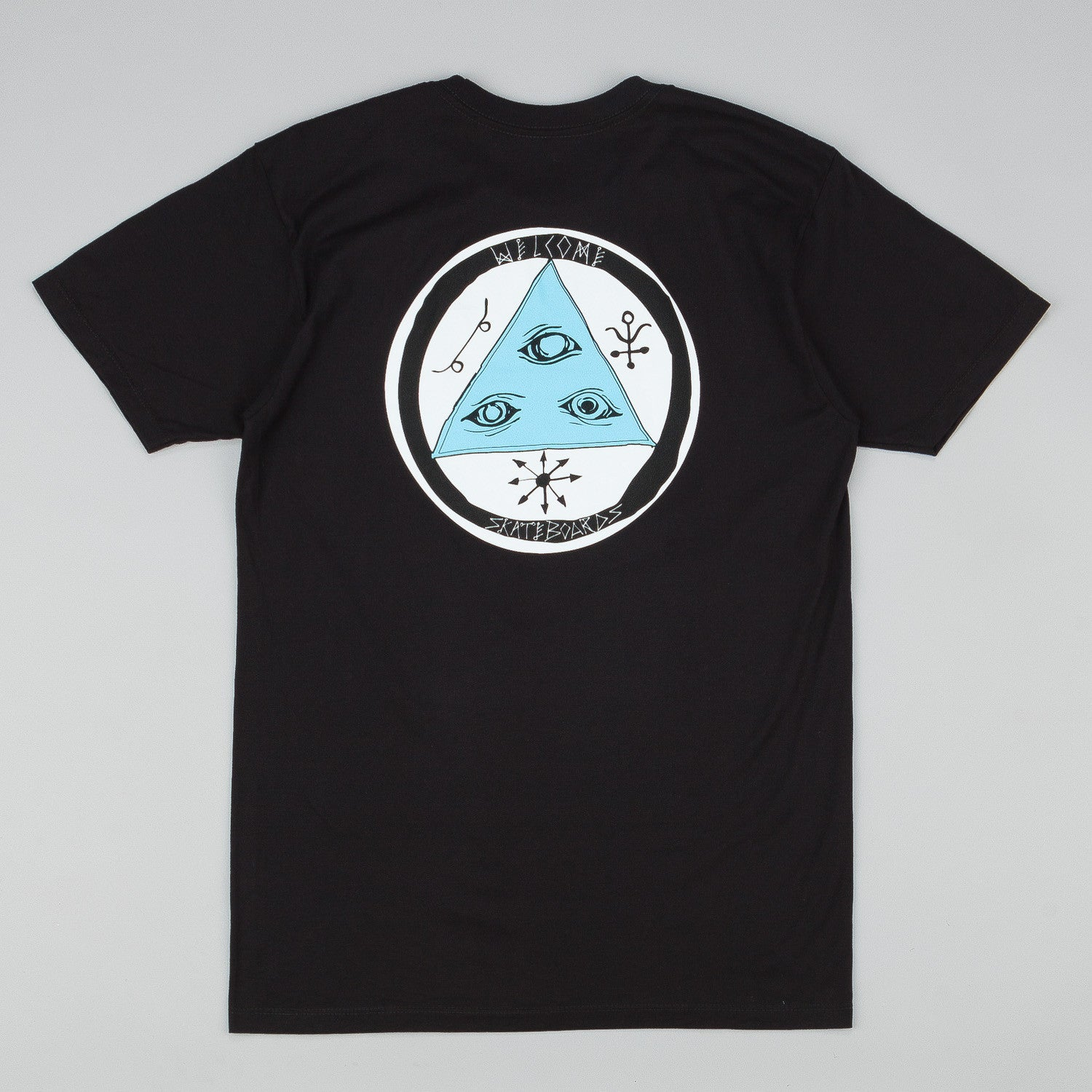 Welcome Talisman Tri-Colour T-Shirt - Black / Blue / White