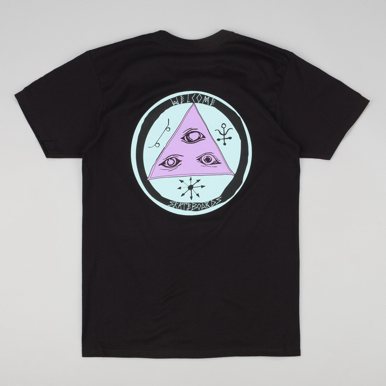 Welcome Talisman Tri Colour T-Shirt - Black / Purple / Teal
