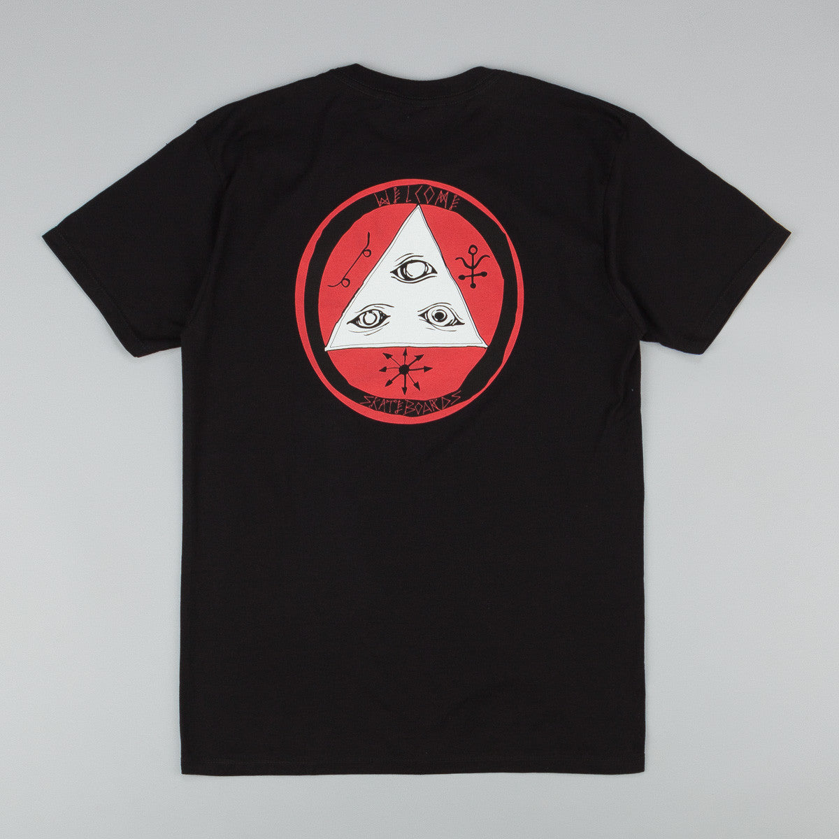 Welcome Talisman Tri-Colour T-Shirt - Black / Red / White