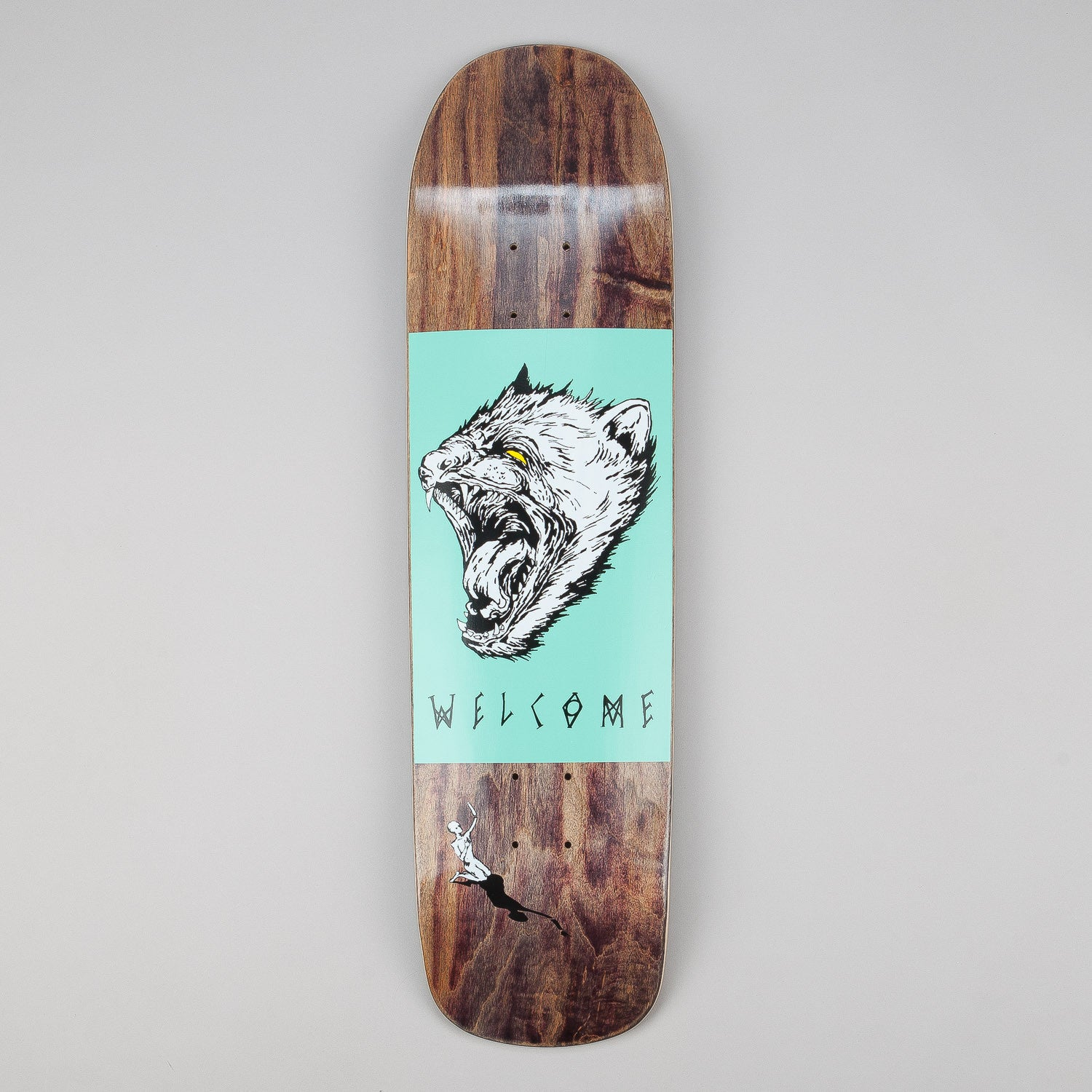 Welcome Tasmanian Angel - Eclipse Shape Deck Black 8.25