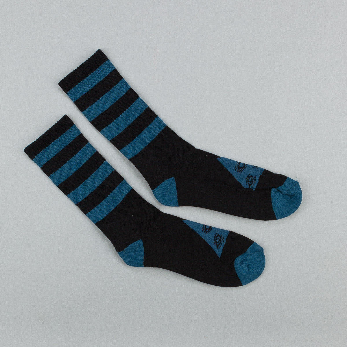 Welcome Triangle Socks - Black / Dark Teal