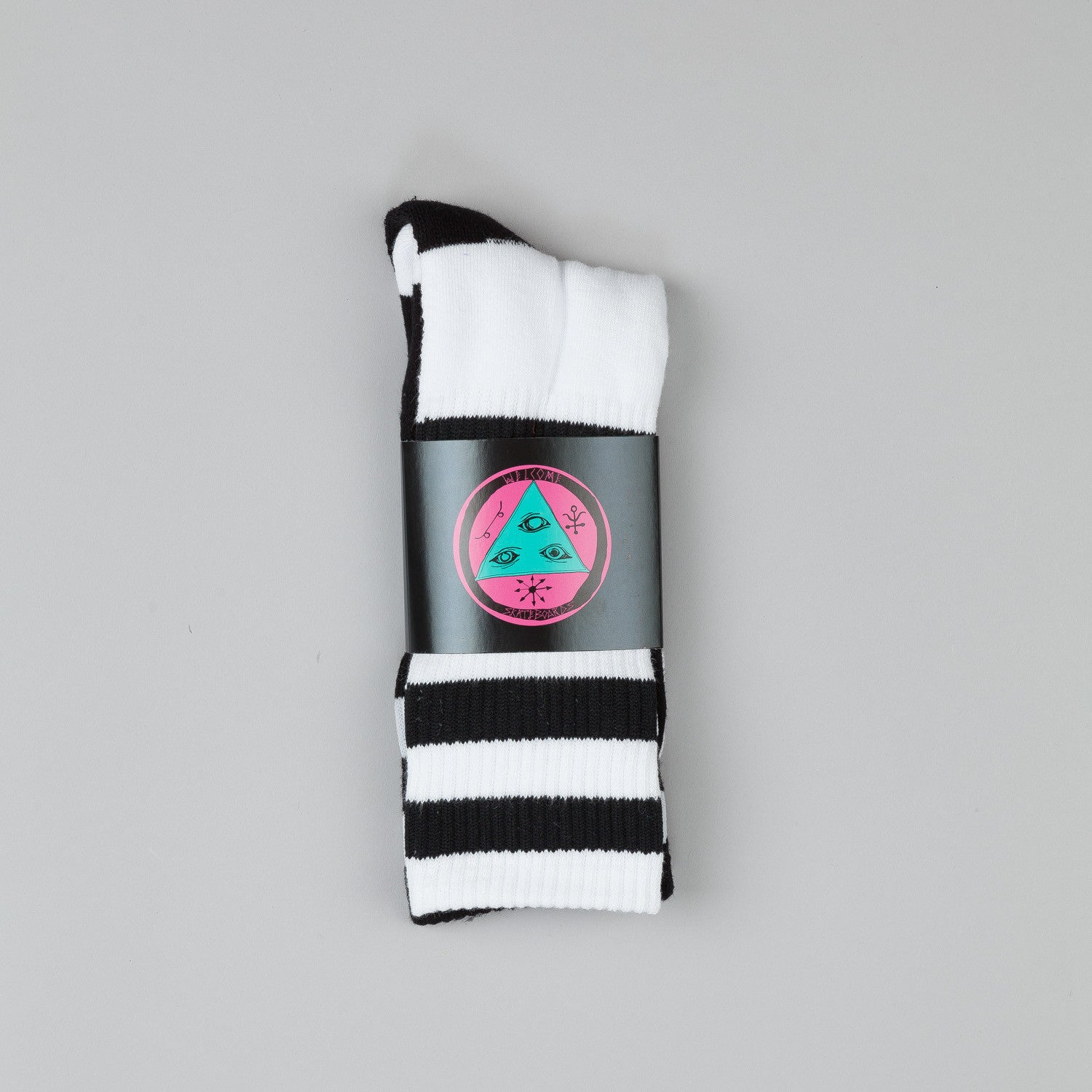 Welcome Triangle Socks Black / White