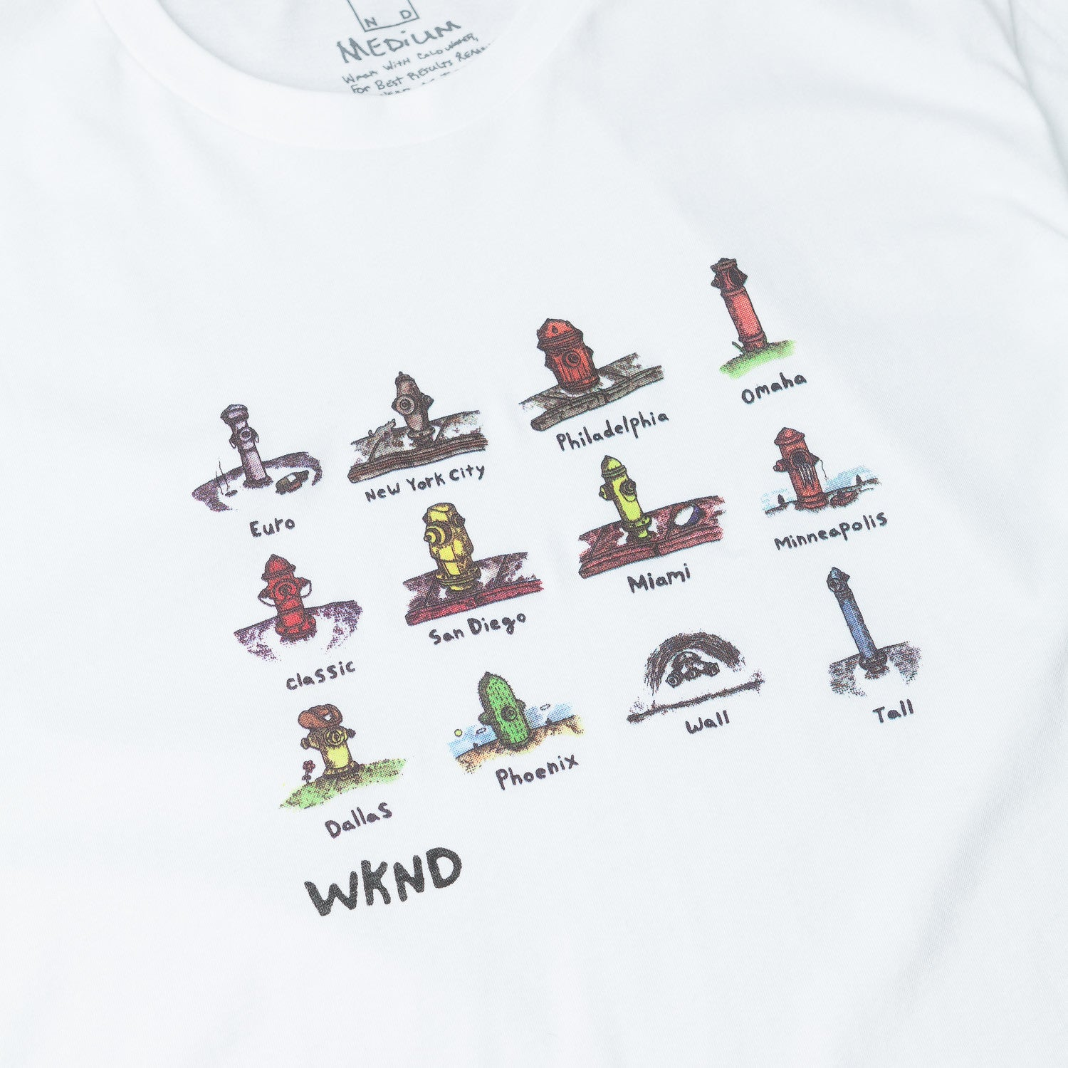WKND Hydrants T-Shirt - White