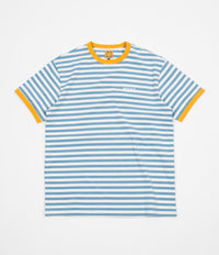 WKND Stripe Knit T-Shirt - Blue / White