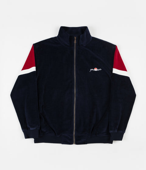 Yardsale Cruz Velour Track Jacket - Navy / Red