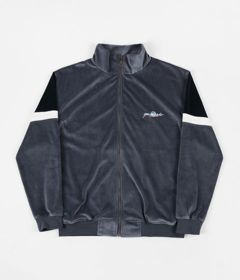 Yardsale Cruz Velour Track Jacket - Wolf Grey