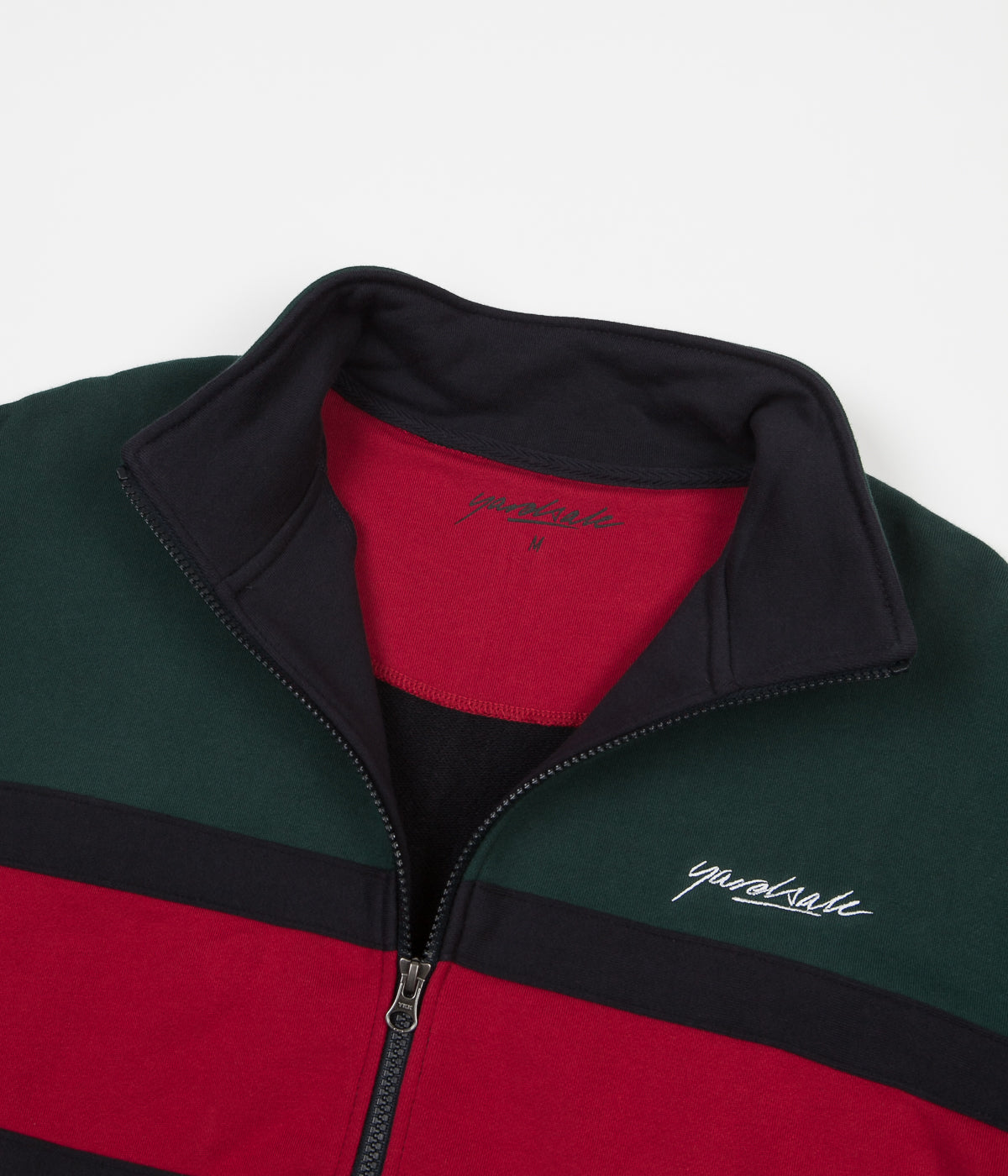 Yardsale Dior Full Zip Sweatshirt - Green / Red / Navy