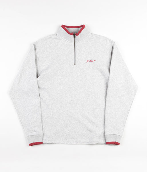 Yardsale Dipped Quarter-Zip Sweatshirt - Ash