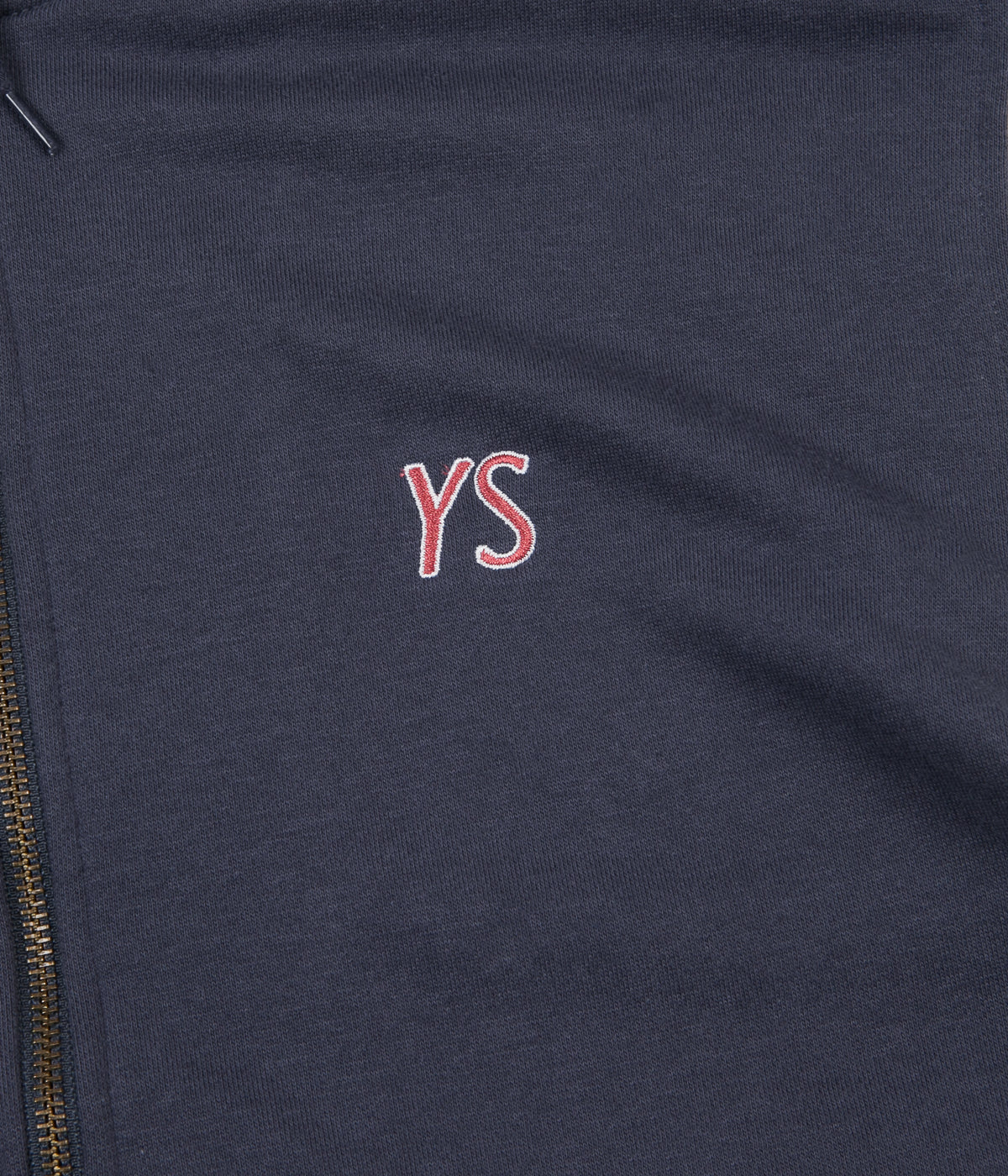 Yardsale Draw String Full Zip Sweatshirt - Navy / White