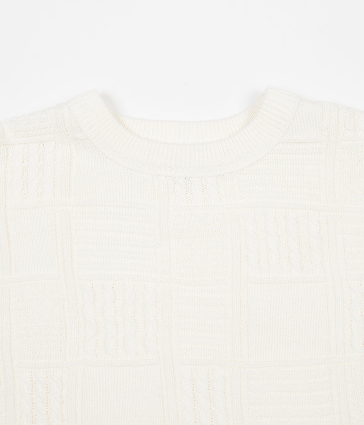 Yardsale Knitted Crewneck Sweatshirt - Cream