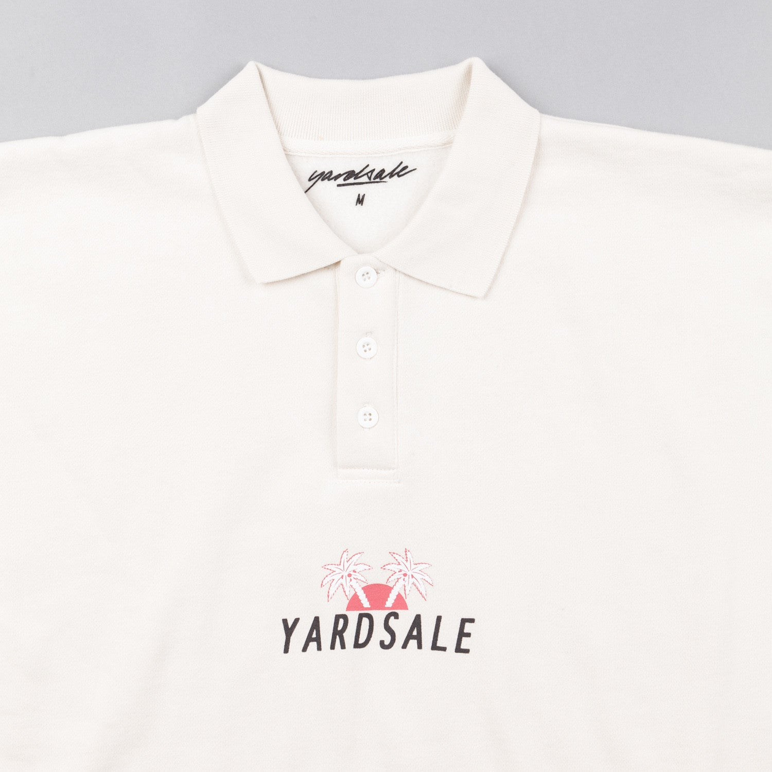 Yardsale Palm Polo Sweatshirt - Cream