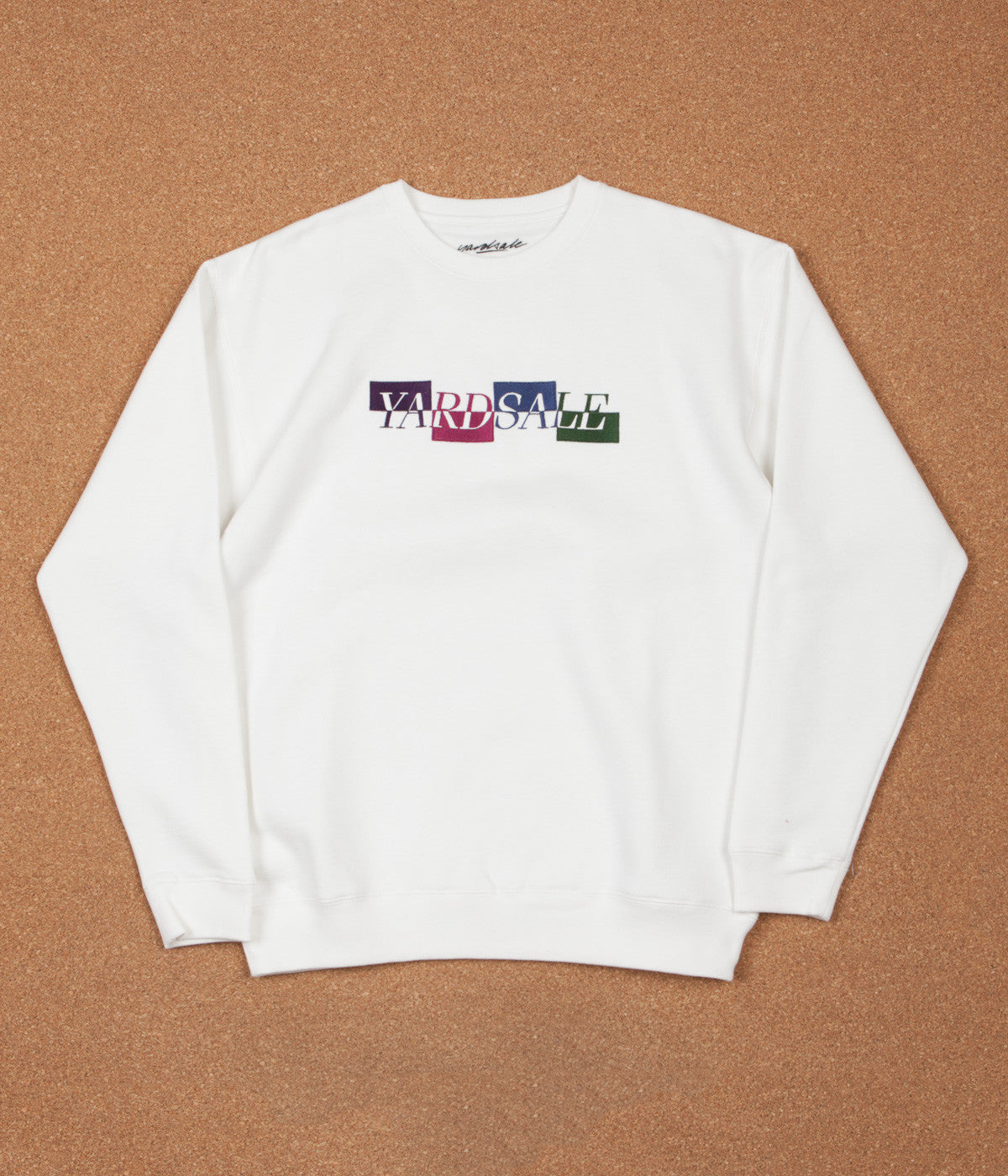 Yardsale Panel Crewneck Sweatshirt - White