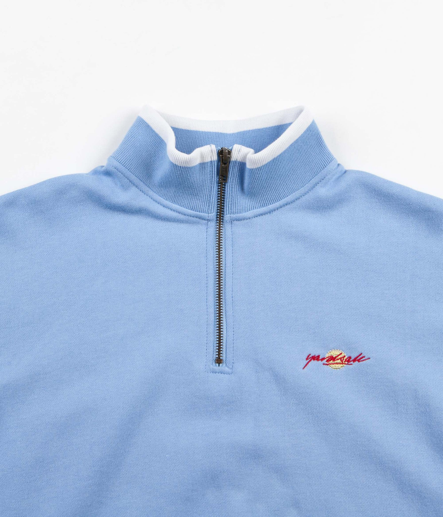 Yardsale Dipped Quarter-Zip Sweatshirt - Baby Blue